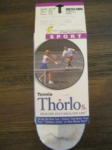 NEW Thor-Lo Thorlo 86% Hi-Bulk Acrylic White Ankle Socks Sport Tennis