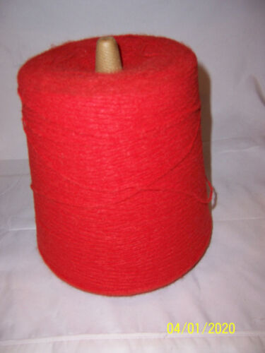BELDING CORTICELLI YARNS RED NYLON Yarn on a Cone -  2 Pound 5 ounces