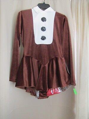 Women's Reindeer Costume Complete Set Leotard Dress, Bow Tie, Antlers Size Small (Women Reindeer Costume)