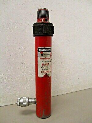 Vintage Blackhawk Porto-power 65142 Hydraulic Ram 4 Ton Rc-540 1 Threaded Ends