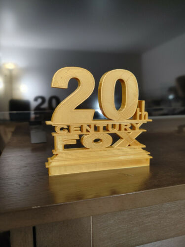 20th Century Fox Style Logo Sign (3D printed, stocking stuffer)