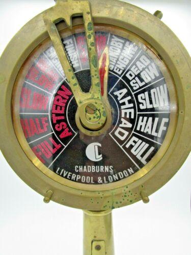 "Chadburns Liverpool & London Lighted Brass 18"" Double Face Ships Telegraph"
