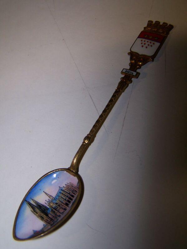Vintage Porcelain Enamel Koln Souvenir Spoon Cologne Painted Bowl