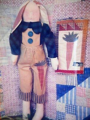 Boy Rag Doll (🐇 Country Rabbit Bunny Stuffed Boy Rag Doll Toy Wall Quilt Sewing Pattern)