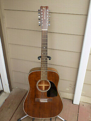 Hohner 12 string Acoustic guitar mahogany Morris made in Japan G-612M