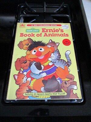 Vintage 1987 Sesame Street Ernie's Book of Animals A Big Coloring Book  - Coloring Book Of Animals