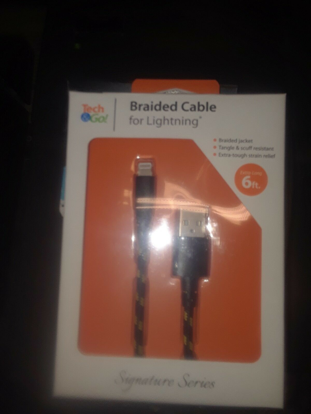 Lightning Cable 6ft Braided - $10.00