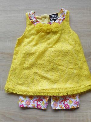Baby 💕 Mädchen 💕 Sommer Set 💕 2tlg 💕 Kleid aus Spitze mit passender Hose ()
