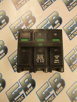 Bryant Br330 3 Pole 30 Amp 240 Volt Plug In Circuit Breaker- Warranty