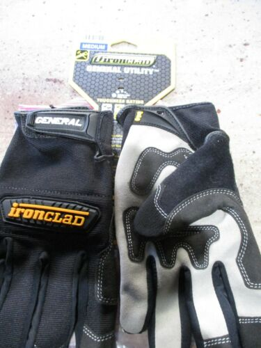 New Ironclad Black Medium Synthetic Leather Utility Gloves General Utility