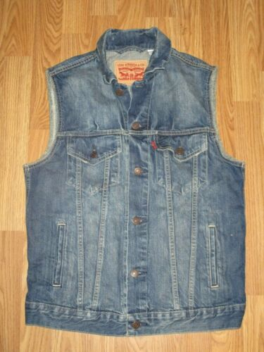 Mens Levis Denim Vest Size M