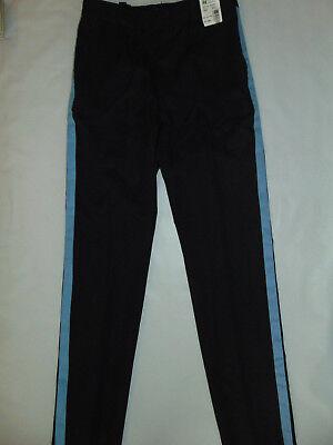 - HORACE SMALL UNIFORM PANTS BLACK w/BLUE STRIPE~NWT~ MEN'S Sz48R x29