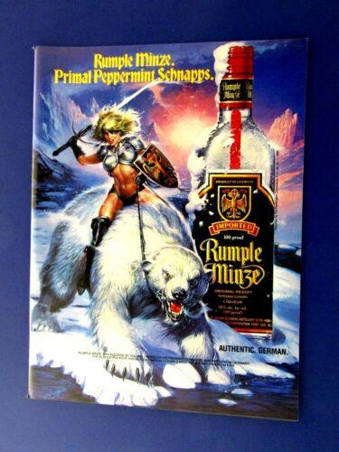 "1992 Rumple Minze Polar Bear Man Cave Original Print Ad 8.5 x 11 """