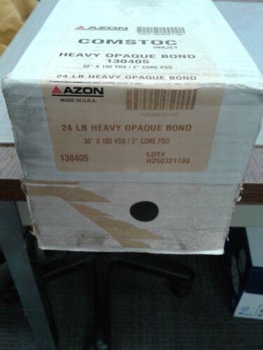 "AZON 24 lb 130405 Heavy Opaque Bond 30 x 100 2"" core"