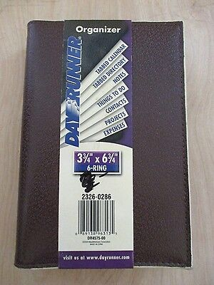 Day Runner 2326 0286 Brown Agenda Notebook 6 Ring Planner Organizer New