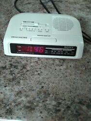 Vintage Sony Dream Machine Clock Radio AM/FM Alarm Model ICF-C25 Tested