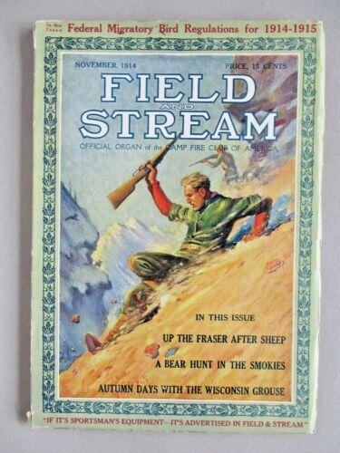 Field & Stream Magazine - November, 1914 ~~ Field and Stream