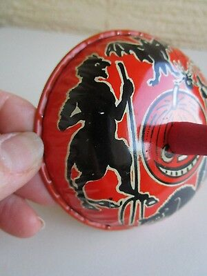 VINTAGE KIRCHHOF TIN HALLOWEEN NOISE MAKER DEVIL&WITCH,BAT,SPIDER,PUMPKIN RARE
