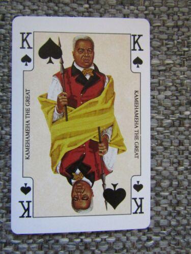King Kamehameha The Great~ Hawaii  1 Playing Card