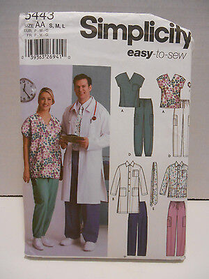 Simplicity Easy to Sew Pattern #5443 S,M,L ~ Scrubs Halloween Costume UNCUT - Easy To Sew Halloween Costumes
