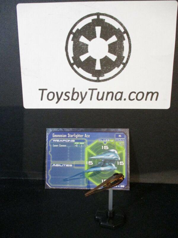 Star Wars Miniatures Starship Battles Geonosian Starfighter Ace w/ Card mini RPG