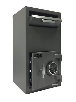 - Cash Drop Front Loading Depository Safe with UL Listed Quick Digital Lock