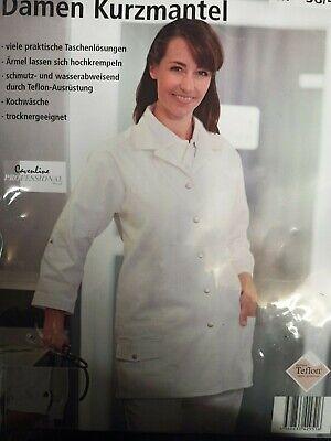 Laborkittel Arztkittel Damen Kittel Arztmantel 95° Waschbar Kurz 38-40