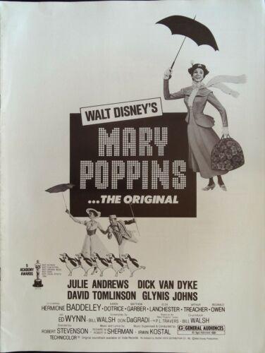 Mary Poppins Pressbook 1980 Julie Andrews, Dick Van Dyke