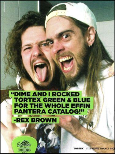 Pantera Dimebag Darrell Rex Brown Dunlop Tortex Guitar Picks 8 x 11 ad print