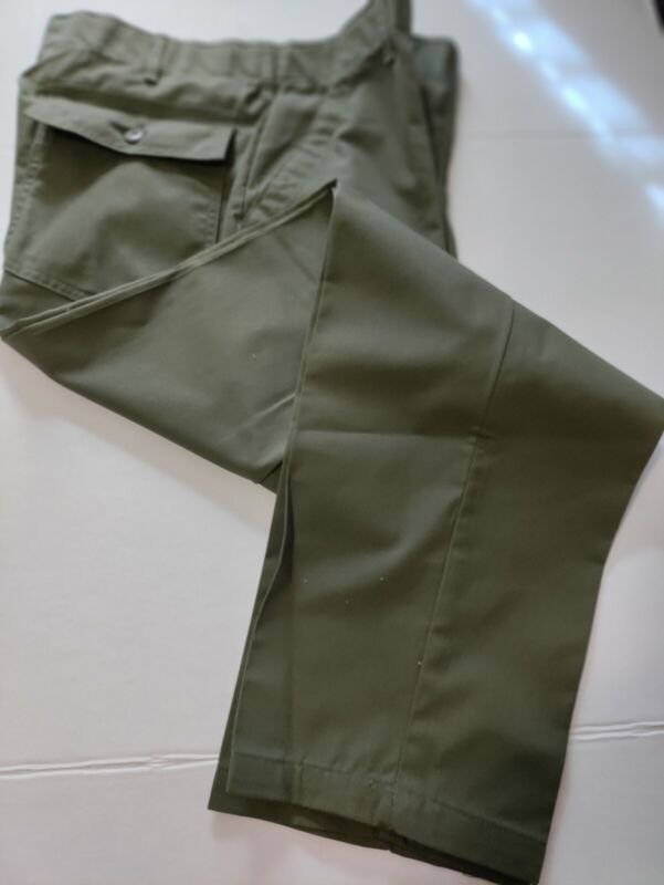 Vintage 70s Military Utility Trousers Mens OG 507 Pants Size 36x31 OD Green - D1