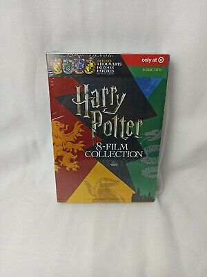 Harry Potter:8-Film Collection Includes 4 Hogwarts Patches DVD NEW Free SHipping