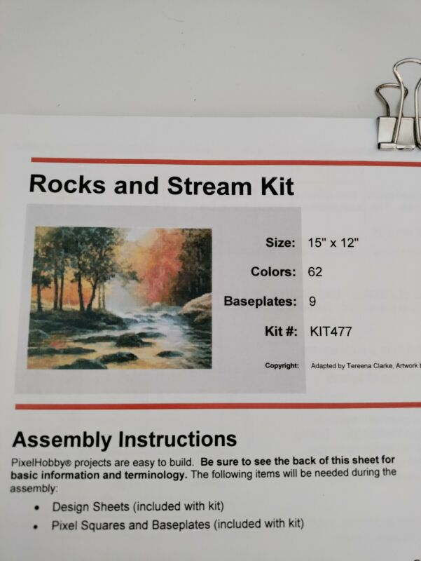 Pixel Hobby Brand Rocks And Stream Kit By HobbyWare. Kit Number 477