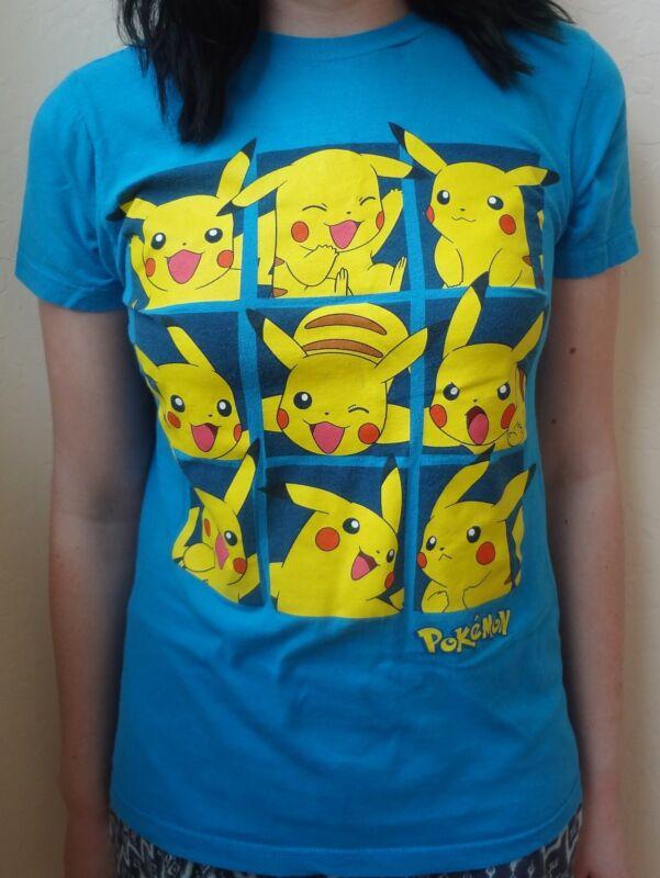 Blue Pokemon Pikachu Expression T Shirt Size Xtra Small XS