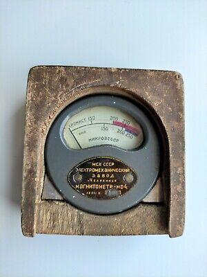 Antique Soviet Magnetometer Md-4 Teslameter Ultra Rare Ussr 1951 Year