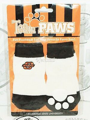 ONE PACK OF 4 DOG PET SOCKS - TEAM PAWS NCAA OKLAHOMA STATE UNIVERSITY LARGE NEW