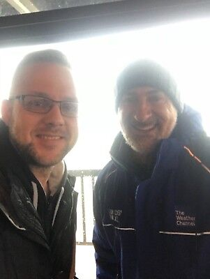 Jim Cantore Signed 8X10 W  Exact Proof The Weather Channel Jen Carfagno News