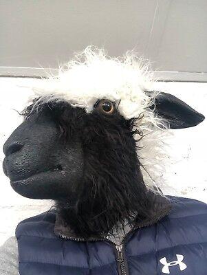 Woolly Sheep Head Mask Latex Full Head Farm Animal Shaun Masks Costume Accessory