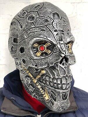 Erwachsene Cyborg Maske Arnold Genysis Latex Maskenkostüm Roboter - Roboter Kostüme Erwachsene