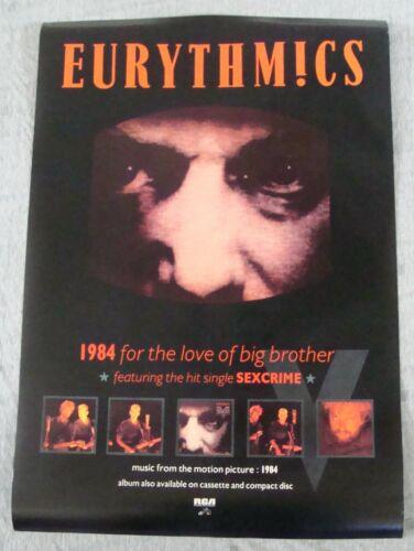 EURYTHMICS Album poster 1984 soundtrack sex crime original record store promo