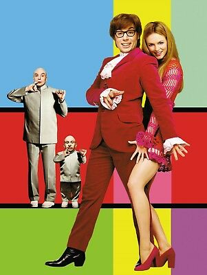 """AUSTIN POWERS 16"""" x 12"""" Photo Repro Textless Poster"""