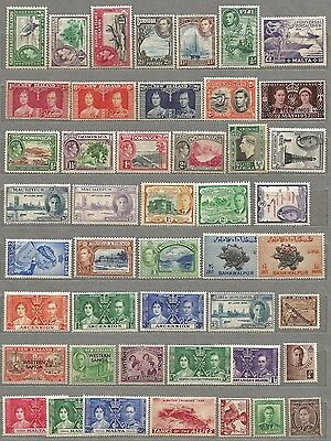 British colonial MNH/MH/OG KGVI collection of all mint issues worth looking sale