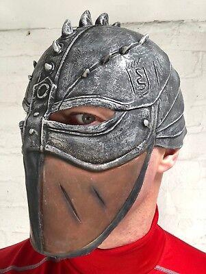 Zenturio Krieger Maske Silber Helm Latex Kostüm Zubehör (Gladiator Kostüm Helm)