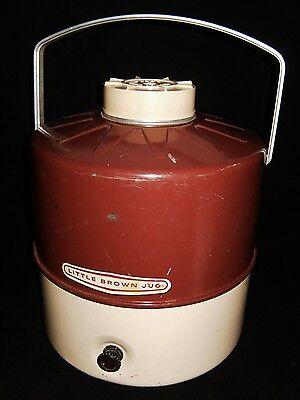 Rare Large Vintage LITTLE BROWN JUG Metal Water Jug Camping Handled