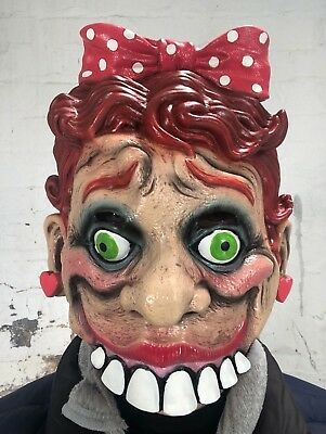 Scary Lady Ventriloquist Puppet Doll Mask Latex Face Halloween Costume Accessory (Halloween Puppets Scary)