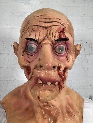 Alter Mann Blutig Zombie-Maske Latex Halloween Horror Maskenkostüm Masken