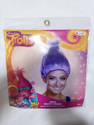 Trolls Costume Wig Hair Troll Purple Adults Dreamworks Disguise Dress up NEW - Adult Troll Costume