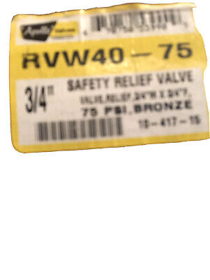 Zodiac Jandy R0040400 34 M X 34 F Safety Relief Valve 75 Psi Apollo Rvw40-75