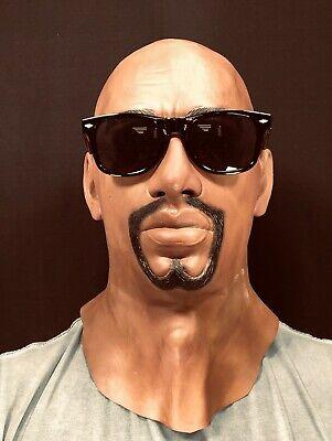 Realistische Schwarz Mann Latexmaske Bart Halloween - Realistische Kostüm
