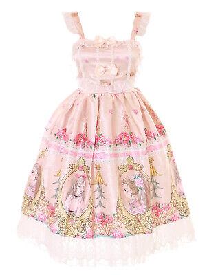 JSK-62-1 Albaricoque Princesa Espejo Rosas Pastel Vestido Lolita Cosplay Disfraz