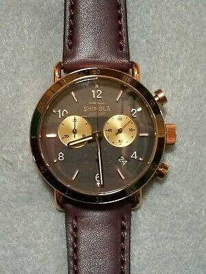 Shinola Canfield Sport Chrono Watch With 40mm Gray Dial & Bourbon Leather Band